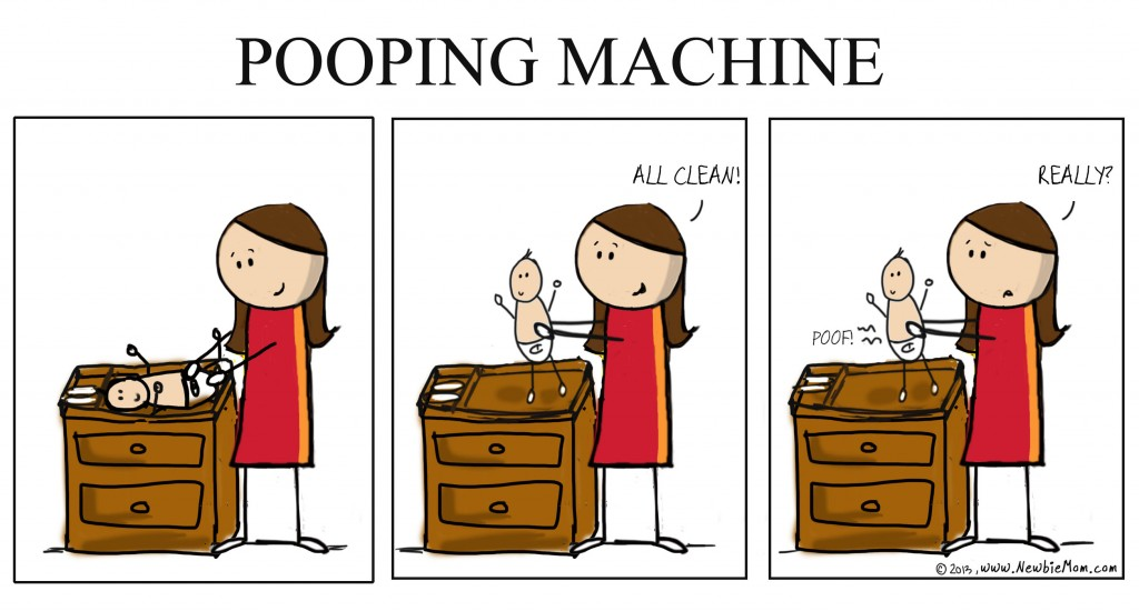 pooping machine