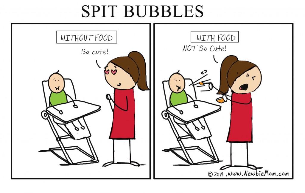 spit bubbles