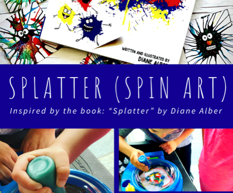 Splatter Spin Art Craft For Kids